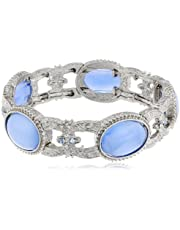 "1928 Jewelry ""Flowers and Pastels"" Stretch Bracelet"