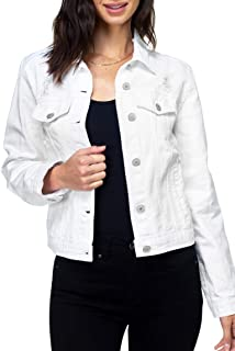 JOYFEEL Womens Fall Winter Vintage Long Sleeve Denim Jackets Button Chunky Jeans Outwear Coats with Front Pockets