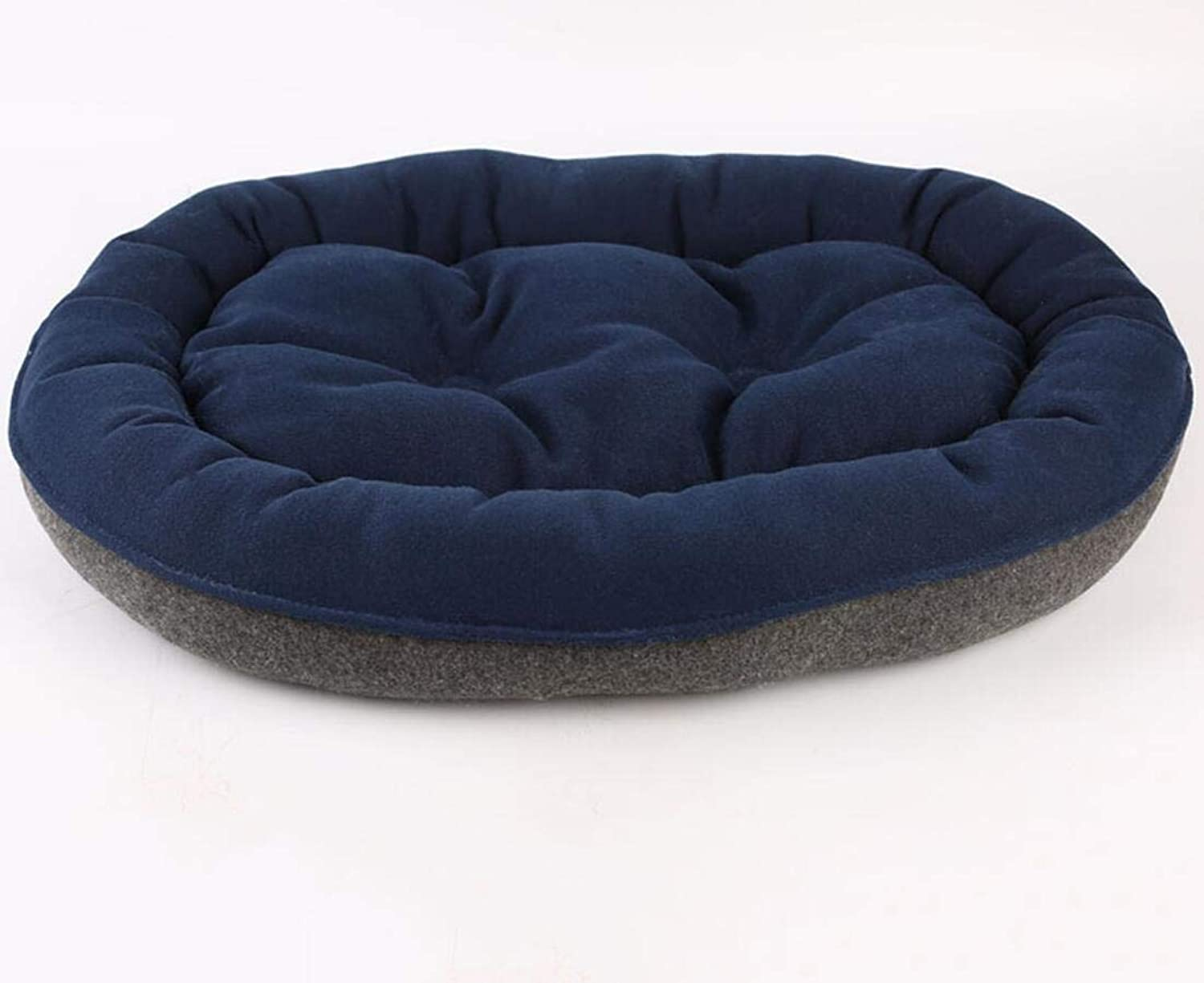 Enjelwang Reversible Shaggy Faux Fur Oval Cuddler Dog Bed House Cushion Small Medium Large Soft Washable Pet Cat Litter Cage Kennel