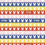 Disney Mickey Mouse Streifen – 100% Baumwolle – ab 0,5