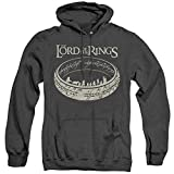 Lord of The Rings Unisex Adult Pull-Over Heather Hoodie, Small Black