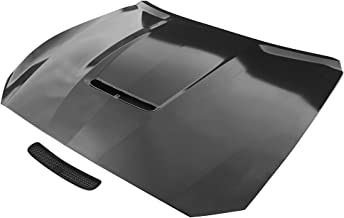 Hood Compatible With 2015-2017 Ford Mustang | 2Dr GT350 Style Steel Front Hood - Black Primerby IKON MOTORSPORTS | 2016