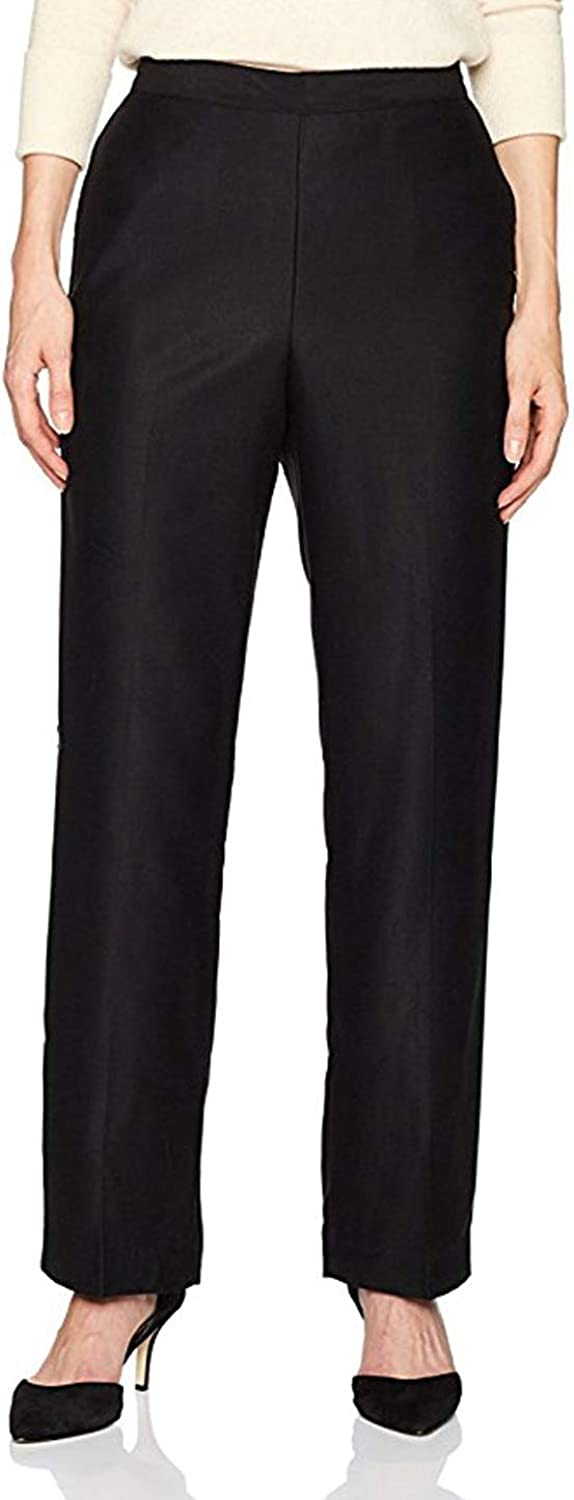 Alfred Dunner Women's Petite Proportioned Jungle Habitat Faux Suede Pants