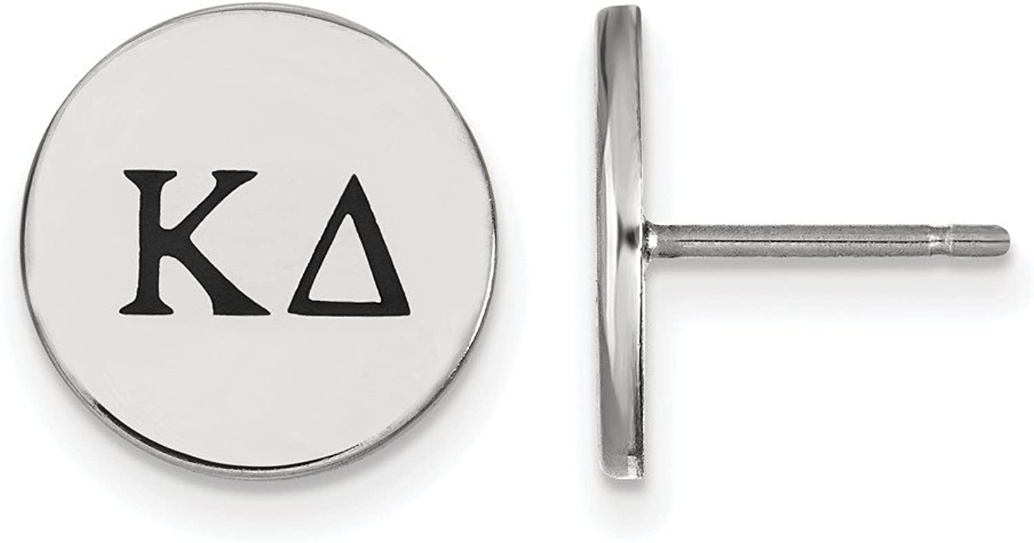 Beautiful Sterling silver 925 sterling Sterling Silver Rhplated LogoArt Kappa Delta Enameled Post Earrings