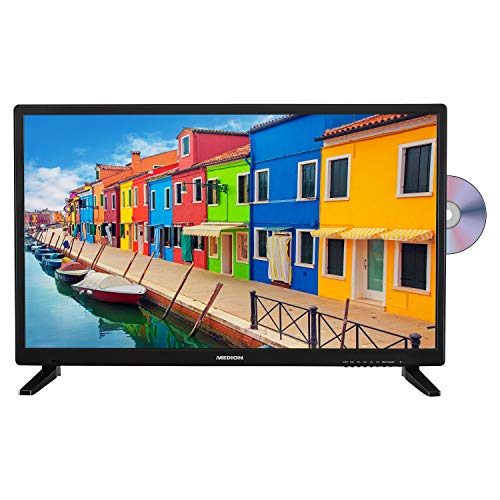 MEDION E12837 69,9 cm (27,5 Zoll) HD Fernseher (HD Triple Tuner, DVB-T2 HD, integrierter DVD-Player, CI+, Mediaplayer, 3 x HDMI, SCART, VGA, USB)