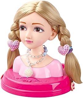 NC Girls Fashion Hair Styling Dolls Head Play Set Kids - Light Brown, as described