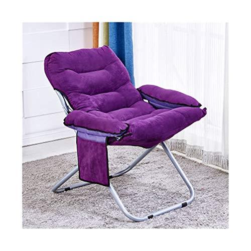KKLL Solo sillón sillón sillón Silla de Dormitorio sillón Sol Sillón Acolchado Moon platillo (Color : Purple)
