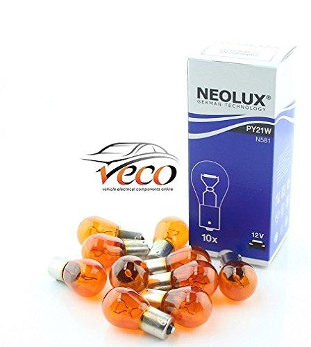 NEOLUX Osram N581 Lot de 10 ampoules Ambre 12 V 12 V PY21 W 21 W