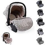 Moni silla de coche bebés Gala Premium, grupo 0+ funda de pie, cojín de asiento, color:beige