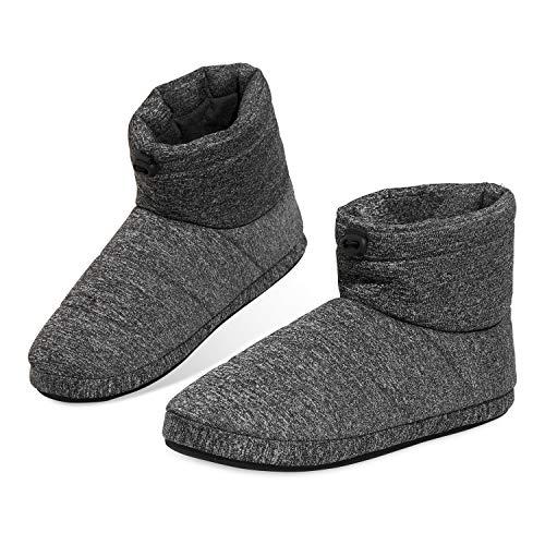 Dunlop Zapatillas Casa Hombre, Pantuflas Hombre Altas para Casa, Zapatillas Hombre Bota para Interior Exterior, Regalos para Hombres y Adolescentes Talla 41-46 (Gris, Numeric_45)