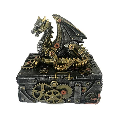 Nemesis Now Secrets of The Machine Box 19,5cm Silber