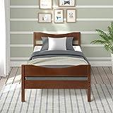 Merax Wood Platform Bed Frame with Headboard/No Box Spring Needed/Wooden Slat Support/Espresso Finish (-Walnut-)