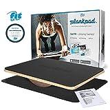 Fit for Fun Plankpad, interaktiver Ganzkörper-Trainer, mit passender App für Spiele & Workouts, Balanceboard aus Holz, Fitnessgerät/Hometrainer für Frauen & Männer