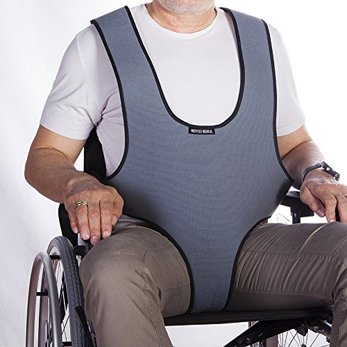 Mobiclinic Arnés Chaleco perineal de sujeción Tipo Peto | para Silla de Ruedas, sillas y sillones de Descanso | para Personas con inestabilidad | Talla 1 (79-168 cm)