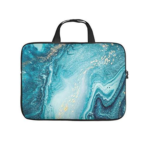 Bolsa para portátil con textura de mármol para uso diario, personalizable, resistente al desgaste – abstracto, bolsillos para tabletas, adecuado para negocios