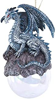 Pacific Giftware Checkmate Gray Dragon Glass Ball Ornament by Ruth Thompson Tree Decoration Gift Decor