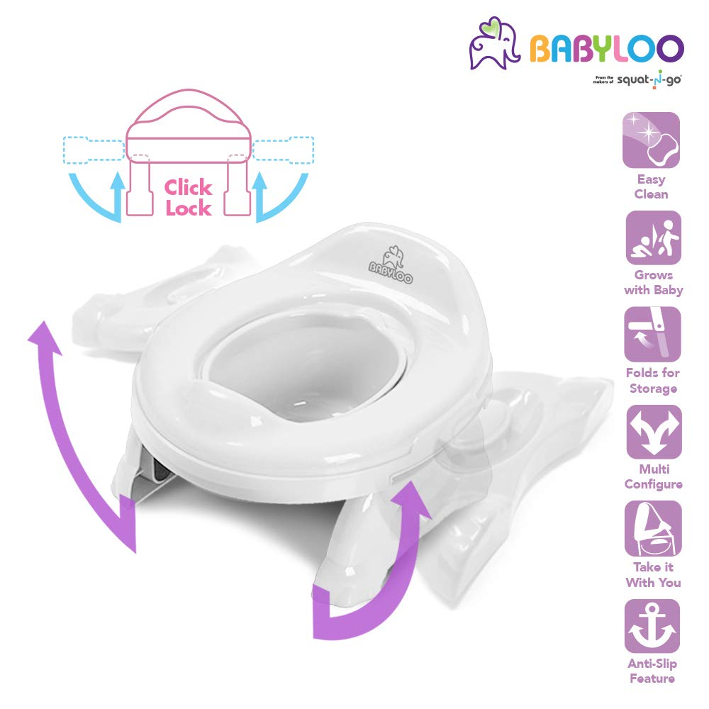 Babyloo Multipurpose 2 in1 Travel Potty (Pure White)