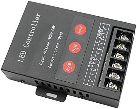 EforLighting 30A 310A DC 5V 12V 24V 3 Keys LED RGB Controller Dimmer 3 Channel for