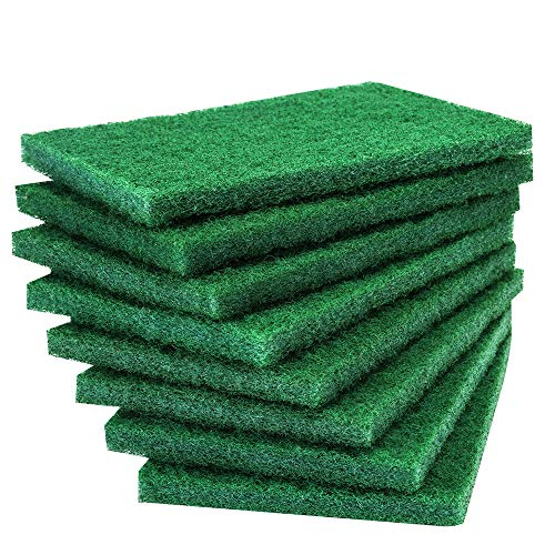 8PCS Scouring Pad - Premium Heavy Duty Scrub Pads with AntiGrease Technology, Reusable Household Green Dish Scrubber, Multipurpose Scour pad - for Kitchen Scrubber & Metal Grills, 3.9 x 5.9 x 0.36IN
