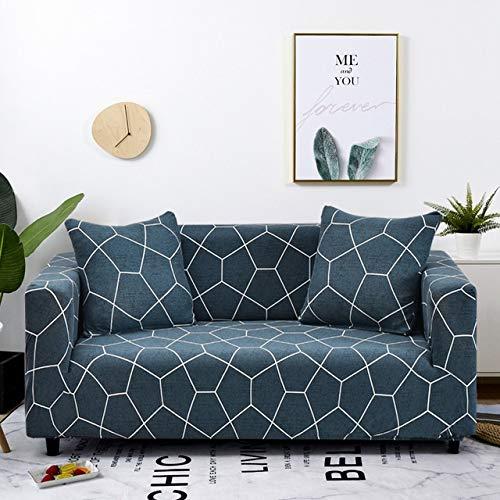 Dujie - Funda elástica elástica para sofá de sala de estar, diseño de L, color 15, especificación: 3 plazas 190 230 cm.