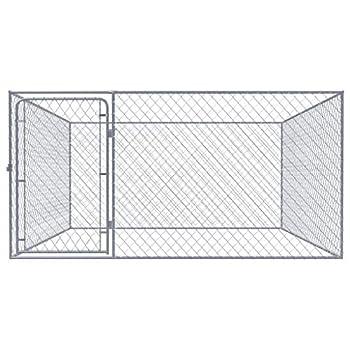vidaXL Chenil extérieur pour Chiens Acier galvanisé 2x2x1,85 m