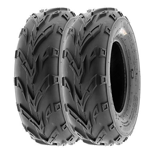 SunF 145/70-6 145/70x6 ATV UTV Tires 6 PR Tubeless A004 [Set of 2]