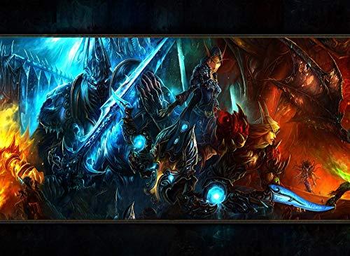 Mini Rompecabezas en Miniatura de 1000 Piezas para Adultos World of Warcraft Rompecabezas de cartón Resistentes, desafío de Ejercicio Cerebral, Juego de Alta dificultad, Regalo para niños 38 * 26cm