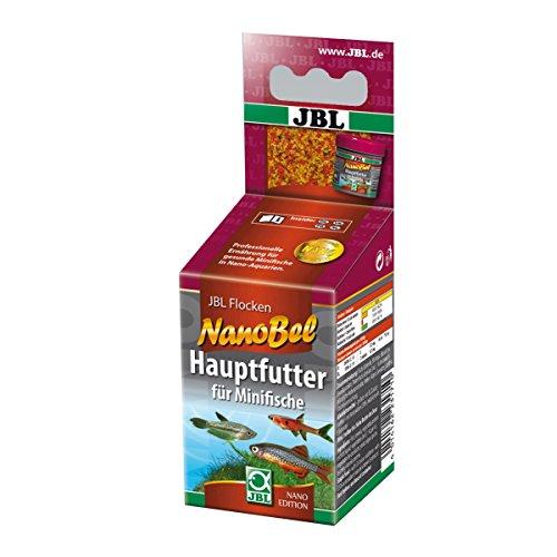 JBL Nano-Bel 23171 Alleinfutter für kleine Aquarienfische, Flockenfutter, 60 ml
