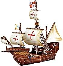 Barco Pirata de Santa Maria Juguete de Barco de Rompecabezas de Papel Ensamblado Modelo 3D para Niños