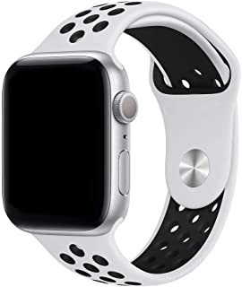 Strap / Band Compatible With Apple Watch Sport Replacement Wrist Strap Band 42/44mm | 38/40mm Series SE/6/5/4,Soft Silicon...