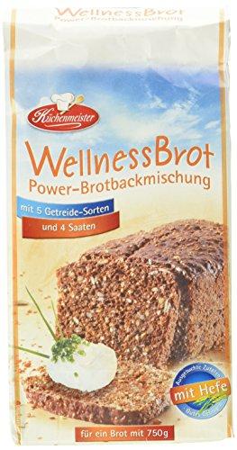 """BIELMEIER KÜCHENMEISTER Brotbackmischung Wellnessbrot \""""Power\"""" 15 Stück á 500 g made in Germany"""