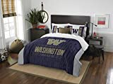Washington Huskies Full Comforter and Sham Set, Full/Queen