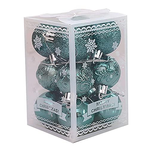 Yirepny - Palline di Natale per albero di Natale, 12 pezzi, infrangibili, per decorazioni natalizie, decorazioni natalizie, colore: verde oliva