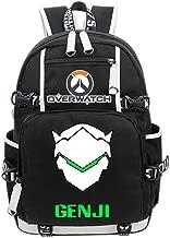 Overwatch Genji Cosplay Backpack Deluxe Canvas School Bag Game Accessories for Teenagers