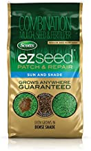 Scotts EZ Seed Patch and Repair Sun and Shade, 10 lb. - Combination Mulch, Seed and Fertilizer, Tackifier Reduces Seed Wash-Away - Full Sun, Dense Shade, High Traffic Areas - Covers up to 225 sq. ft.