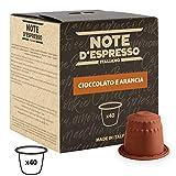 Note D'Espresso - Cápsulas de chocolate a la naranja, 7g (caja de 40 unidades) Exclusivamente Compatible con cafeteras Nespresso*