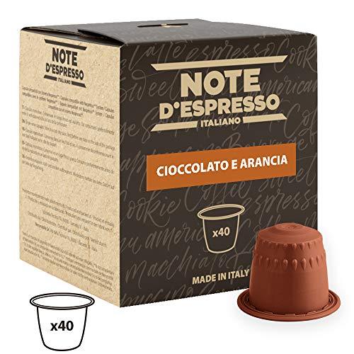 Note D'Espresso Kapseln Orange Chocolate, 7g x 40 Kapseln ausschließlich Kompatibel mit Nespresso*-Kapselmaschinen