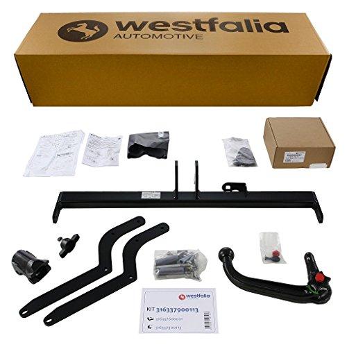 Abnehmbare Westfalia Anhängerkupplung für Clio IV Grandtour (BJ ab 03/13) im Set mit 13-poligem fahrzeugspezifischen Westfalia Elektrosatz