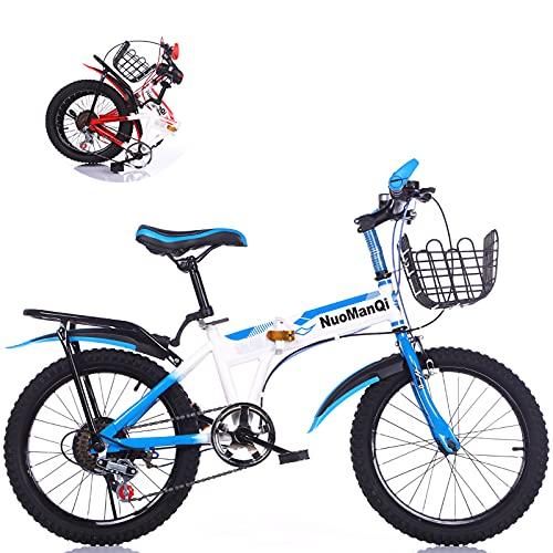 Bicicleta Plegable Para Niños De 18/20/22 Pulgadas Y 7 Velocidades, MTB De Velocidad Variable Par