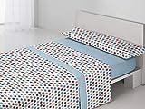 Antonella - Juego sábanas Clara. Cama 90 cm. Azul