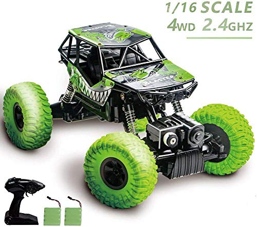 heyesupio Impermeable RC Truck 4x4 Off Road Remote Control Car para niños Crawler RC Cars para niños niñas