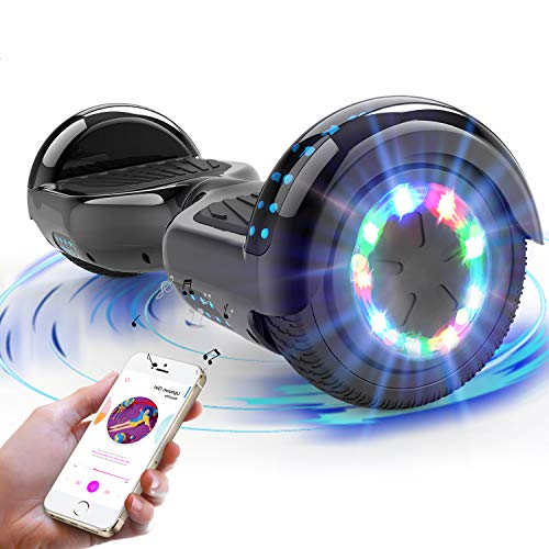 RCB Hoverboard for Kids and Adults 6.5 inch, Segway with Bluetooth - Speaker - LED Lights, Electric Scooter Board Gift for kids