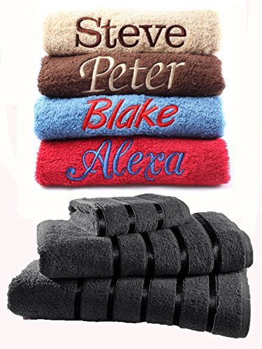 Juego de toallas bordadas personalizadas