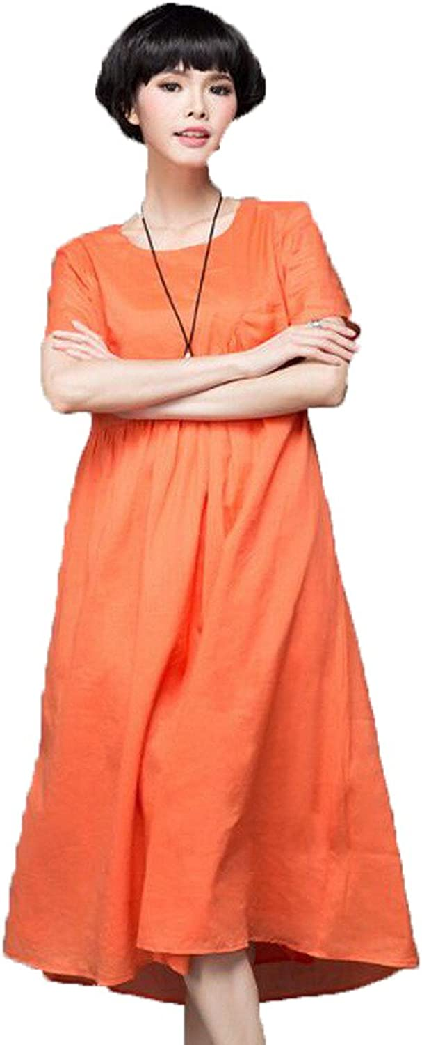 Angel&Lily Linen Loose fit Casual Work Long Maxi Dress plus1x10x