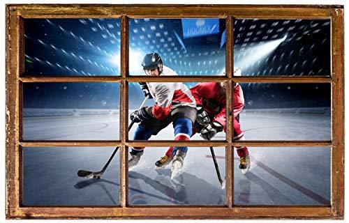 Eishockey Eis Stadion Wandtattoo Wandsticker Wandaufkleber H0617 Größe 120 cm x 180 cm
