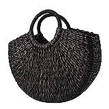 Einkaufstasche einfache Wilde Dame Handtasche Dame runde Eimer Strohtasche Korea handgewebte Korb Rattan Handtasche