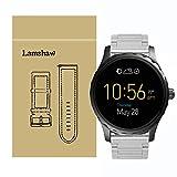 Lamshaw ステンレス メタル ベルト 交換バンド 対応 FOSSIL 腕時計 Q MARSHAL スマートウォッチ (シルバー)