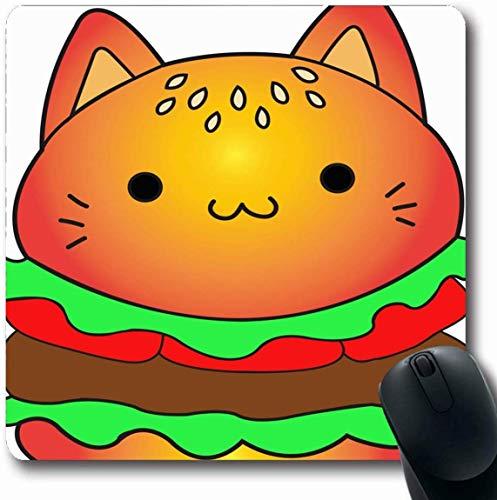 Luancrop Mousepad Oblong Hamburger Katzenfutter Cute Drink Burger Amerikanisches Rindfleisch Brot...