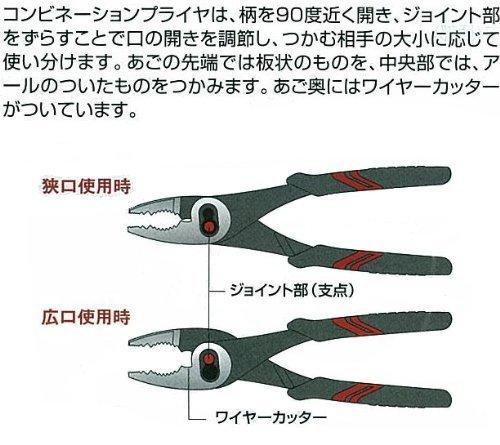 KTC(ケーテーシー)コンビネーションプライヤーPJ-200-S