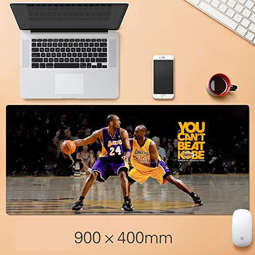 TMEET NBA Mauspad Übergroße Basketball Warriors Lakers Tischset, Anime Gaming Mauspad Matte Gummi Lockedge Mauspad Gamer Matte für Schreibtisch Computer Pad, F